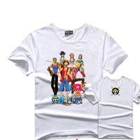 New Fashion Anime One Piece T Shirt Short Sleeve Cotton Unisex Lover Casual T-shirt Cosplay White Teenagers Costume O-Neck