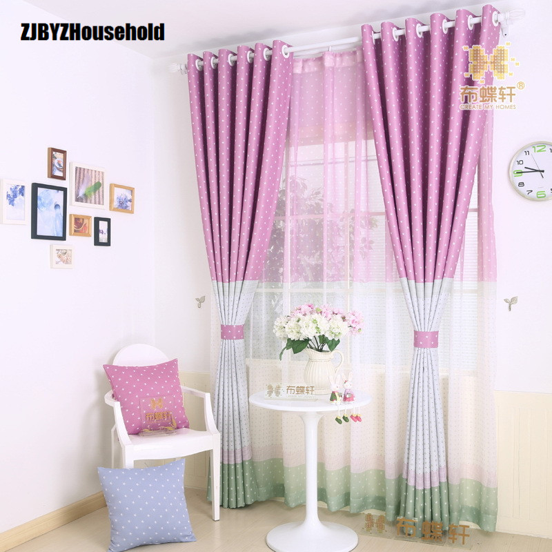 Idyllic Mediterranean Style Children Bedroom Green Shade Cloth Curtains For Living Dining Room Windows D Screens In From Home Garden