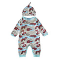 Newborn baby boy rompers fox 2017 autumn infant baby rompers for boys girls fashion long sleeve baby girl jumpsuits +hat fashion