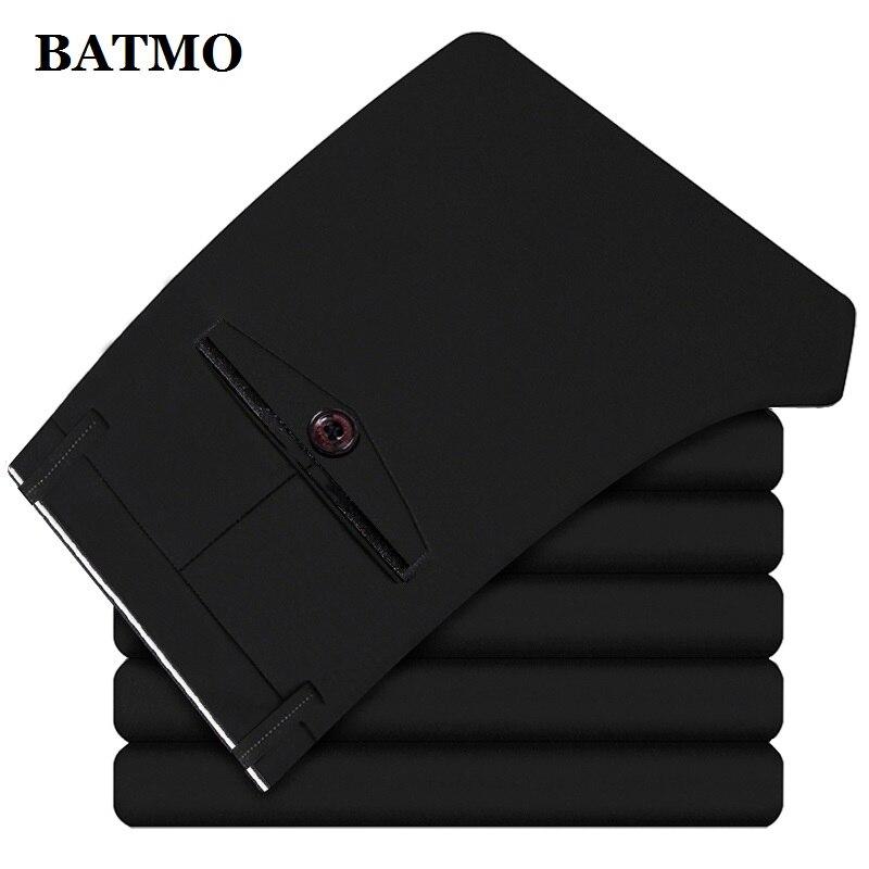 BATMO 2019 new arrival high quality casual pants men,men's smart casual pants,elastic trousers,plus-size 1828