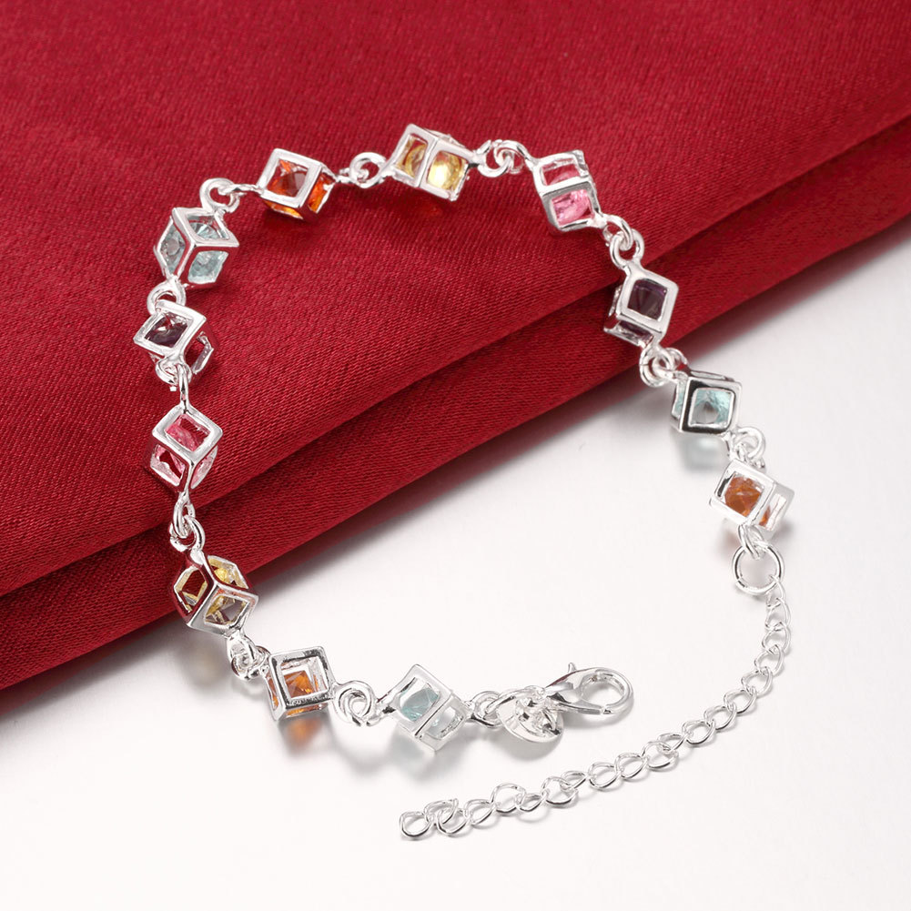 toggle bracelet closure stone with colored multi pin