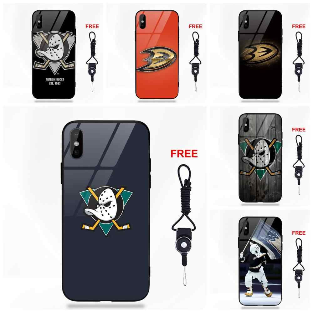 Anaheim Ducks Логотип для Galaxy S8 S9 Plus Redmi 5 Note 5A 6 huawei Honor 7X P20 Lite Коврики 10 Pro закаленное стекло чехол