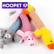 HOOPET Pet Dog Toy  Soft Short  Floss Cute Toy Trainning Sounded Toy Three Shapes