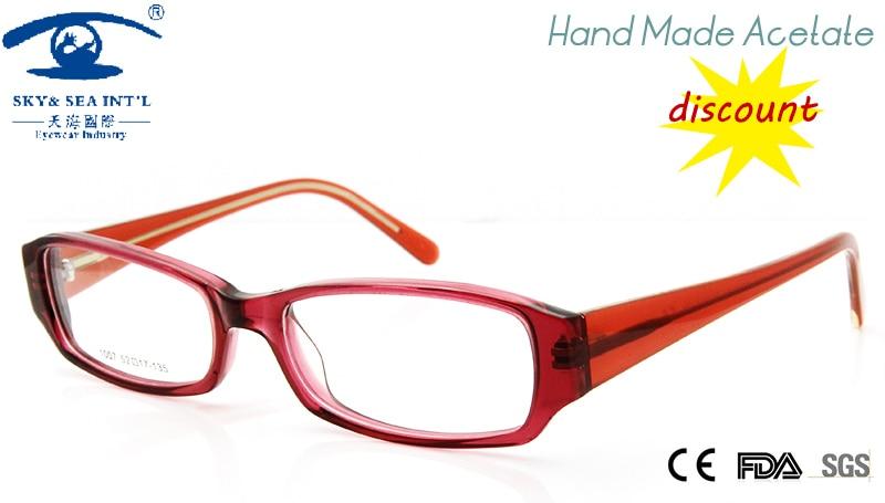 2015 cheap women glasses frame optical lens hand made acetate prescription eyewear fashion designer oculos de