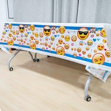 132cm*220cm Emoji Party Supplies Boy Birthday Festival Decoration Favors KidsBirthday Disposable TableCloth