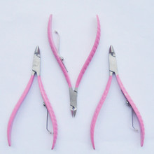 Pink Professional Stainless Steel Nail Cuticle Nipper Clipper Nail Cutter for Manicure Pedicure Nail Tools