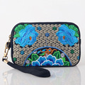 New Arrive Hot selling national embroidery bag handmade embroidered Coin bag long wallet purse phone Clutch bag
