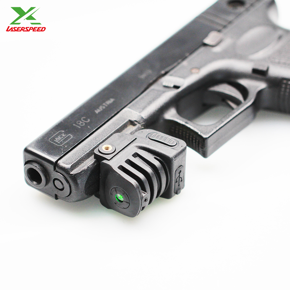 LS-L8 series rechargeable long distance shooting green laser sight for pistol .40