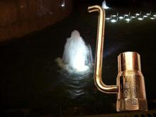 Piped aerated fountain nozzle 6 minutes 1 inch piped fountain nozzle bubbling fountain landscape geomantic pool