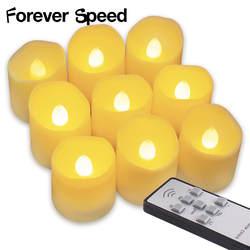 9 шт Чай мерцающий свет включить батареи светодиодный свечи буж оптом velas электрические свечи chandelle свадьбы Рождество челнока