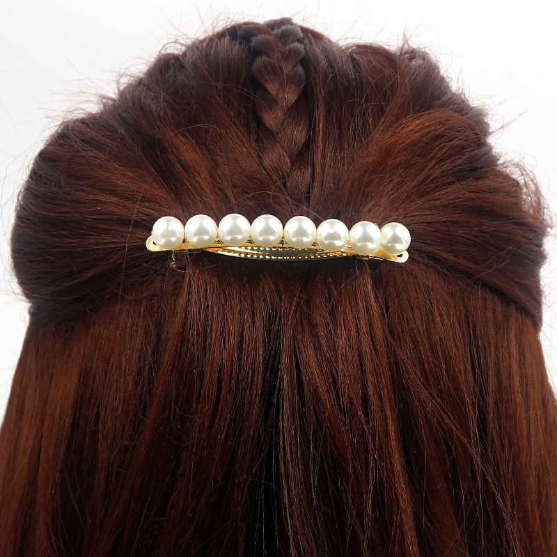 New Fashion Pearl Hairgrips for Women Barrettes Elegant Pearls Hairpin Party Hair Clips for Women Hair Accessories   Headwear   372
