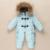 Snowsuit bebê novos infantil meninos one piece-roupas de inverno gola de pele de guaxinim com capuz térmico criança meninas macacões desgaste neve