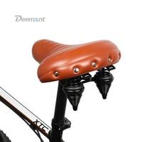 Deemount Bicycle Saddle Heavy Duty Streamlined Seat MTB Mountain Bike Silicone Gel Foam Cushion Shock Absorption