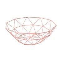 Nordic Creative Iron Storage Fruit Basket Kitchen Fruit Plate Living Room Snack Storage Basket Desktop Drain Containing Baskets