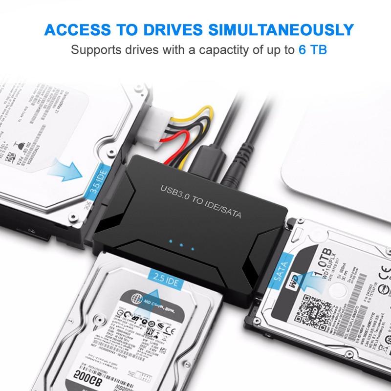 USB 3.0 to SATA IDE ATAデータアダプタ3 in 1 - コンピュータケーブルとコネクタ - 写真 4