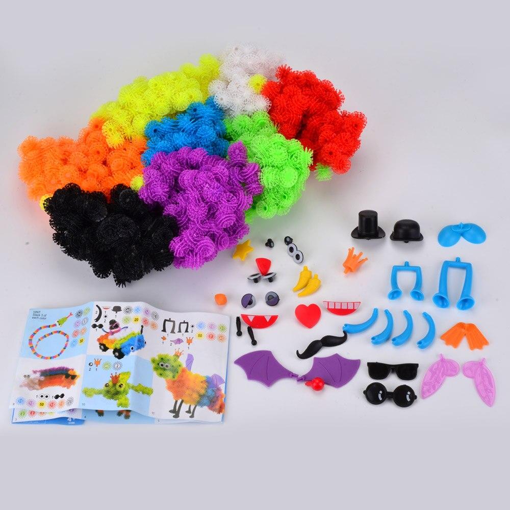 1000 unids/set Accesorios para Construir Rompecabezas 3D Animales de Carga 36 piezas de Accesorios 350 + In Situ Mejor Bloque de Conjuntos de Juguetes Educativos Para niños juguetes