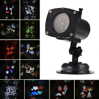 Christmas Projector Lamp Rotating LED Night Lamp Projection Lamp 12 Replaceable Lens For Birthday Wedding Celebration