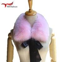 Real Fox Fur Collar Muffler Fur Scarf For Winter Fox Fur Collar For Wool Coat Coat Decoration Lovely Collar For Girl At
