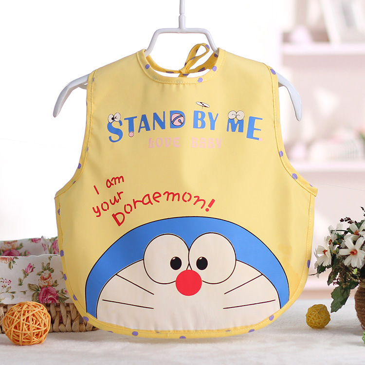 Cute Baby Bibs Toddler Waterproof EVA Bib Boy Girl Cartoon Smock Pinafore Burp Cloths Children Feeding Eating Smock