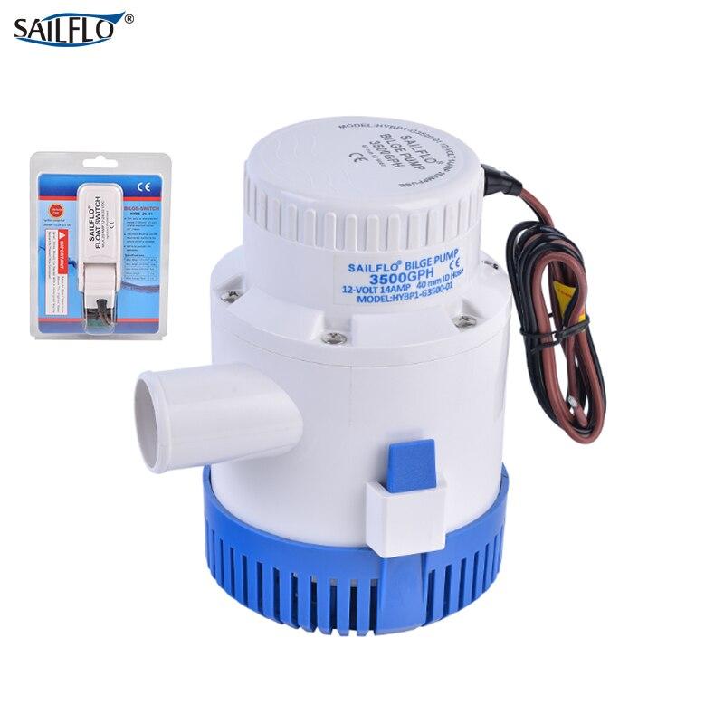 Pompe électrique sailflo 12 V DC 3500GPH pompe de cale de bateau submersible avec interrupteur à flotteur