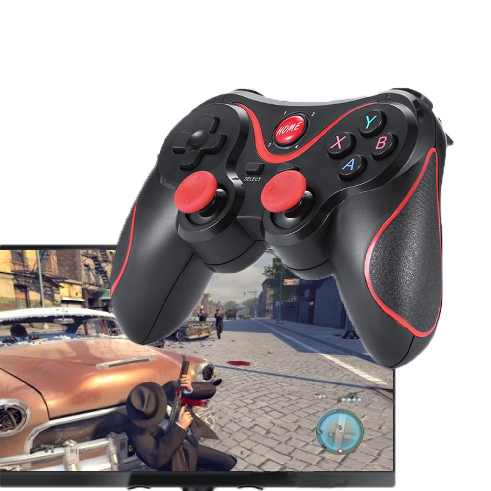 Wireless Joystick Bluetooth 3.0 T3/X3 Gamepad For PS3 Gaming Controller Control for Tablet PC Android Smartphone With Holder image