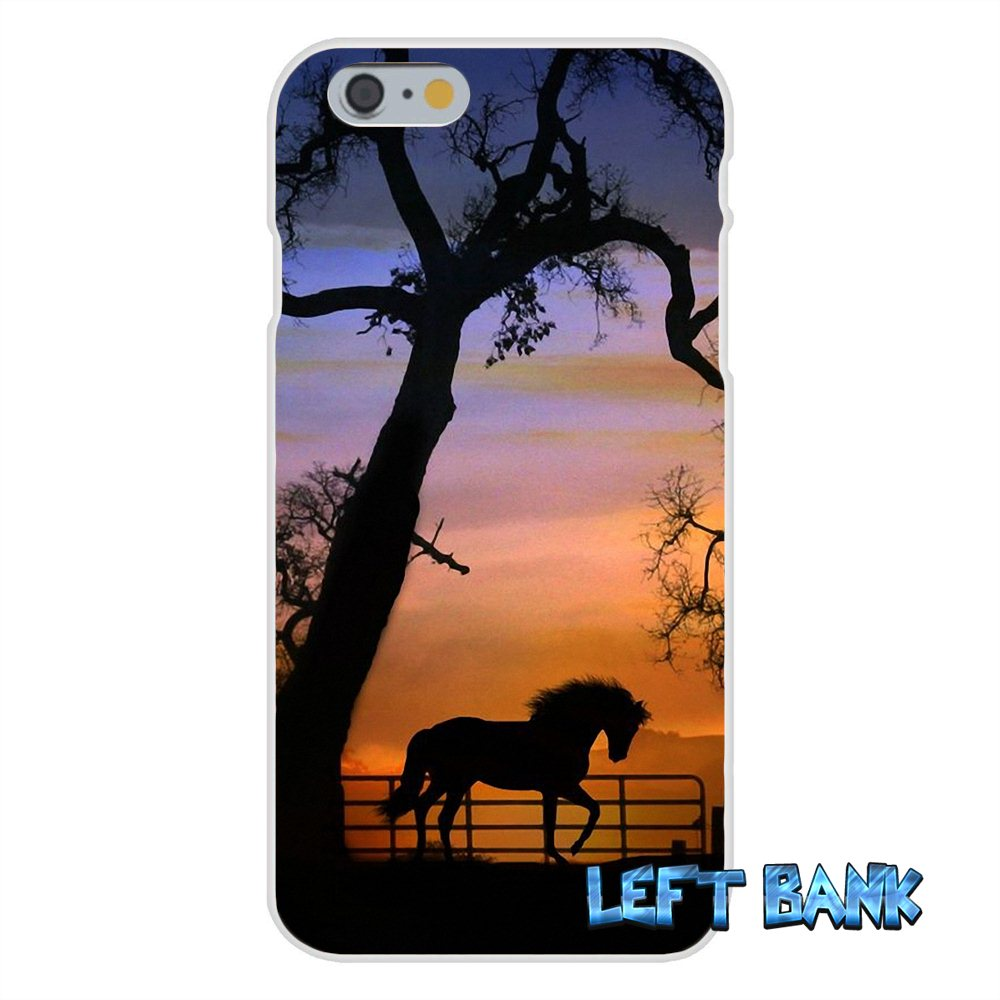 Horse Silhouette on Mountain Range Slim Silicone Phone Case For Samsung Galaxy S3 S4 S5 MINI S6 S7 edge S8 Plus Note 2 3 4 5
