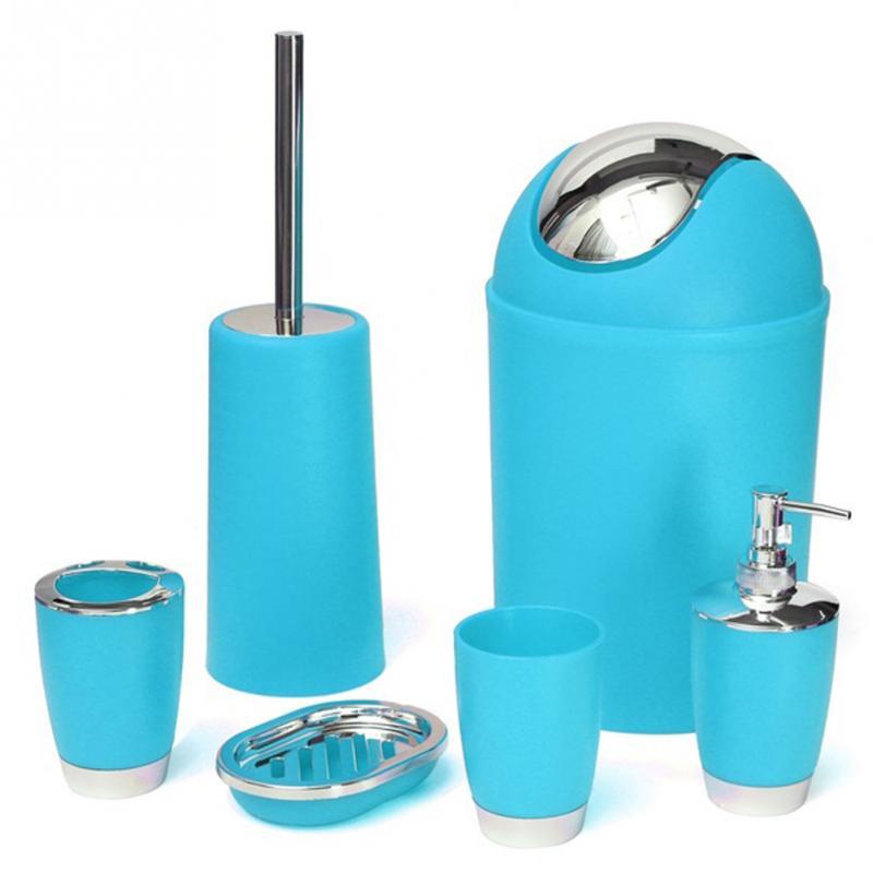 6 шт. набор для ванной комнаты зубная щетка держатель для туалетной щетки мыльница Кубок бен распылителем аксессуары для ванной комнаты