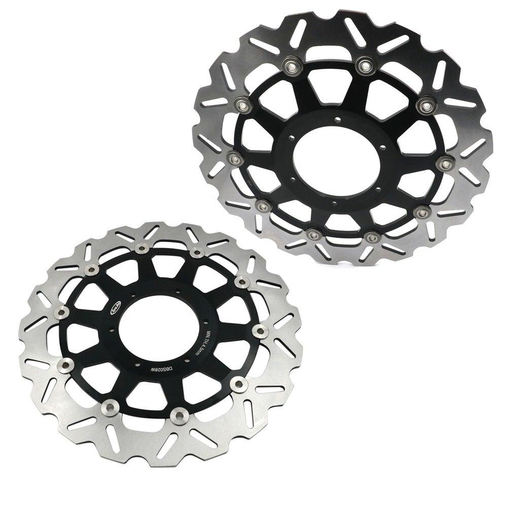 330MM Black Front Brake Disc Plates Rotors Fit For Honda CBR 929 RR Fireblade SC44 2000-2001 CBR 954 RR SC50 2002-2003 1 Pair front & rear motorcycle brake disc rotors for honda 2000 2001 cbr 929rr 929 rr & 2002 2003 cbr 954rr 954 rr