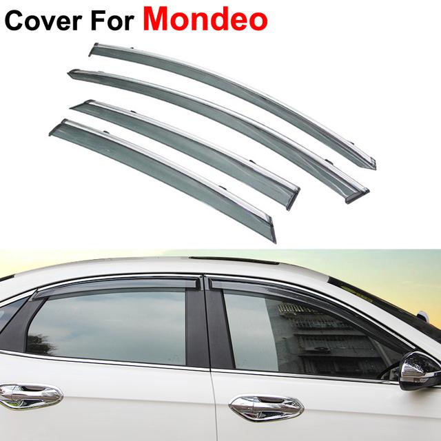 4 unids/lote refugios toldos lluvia del respiradero Sun Shield viseras para Ford Mondeo fusión 5 2013 2014 2015 cubre coche que labra guardia
