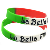 Promo Gift Bulk Cheap Custom Ink-filled Silicone Bracelets for Tourist Souvenir Gift