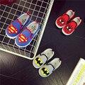 Comercio al por mayor 2016 Zapatos de Primavera Zapatos Del Niño Del Bebé Niños de 1-4 Años de edad, Super Hombre Araña Zapatillas de Lona Causales Niños niñas