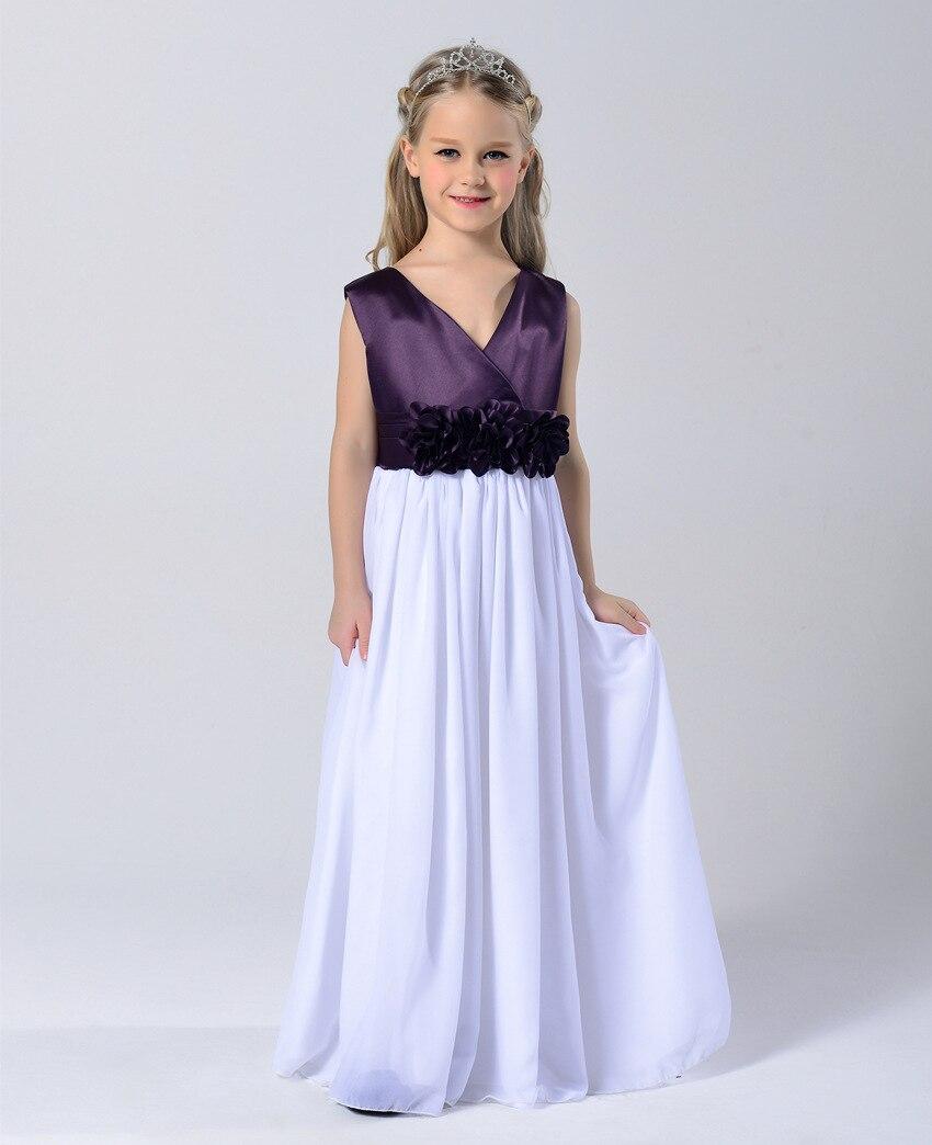 Fashion Age 3 To 13 Year Old Girl Elegant Chiffon Evening Dresses ...