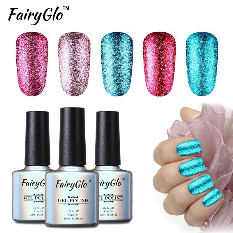 FairyGlo 10ml בלינג UV ג'ל פולני פלטינה ניל - עיצוב ציפורניים