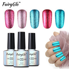 FairyGlo 10ml Bling UV Gel Polski Platinum Nail Gel 1pcs Soak off Gel Polski LED Lampa UV Kolor Gel Lak Vernis Semi Permanent