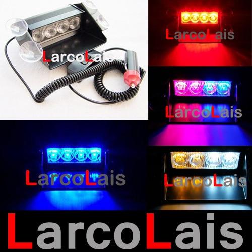 4 LED Strobe Flash Warning EMS Car Light Flashing Firemen