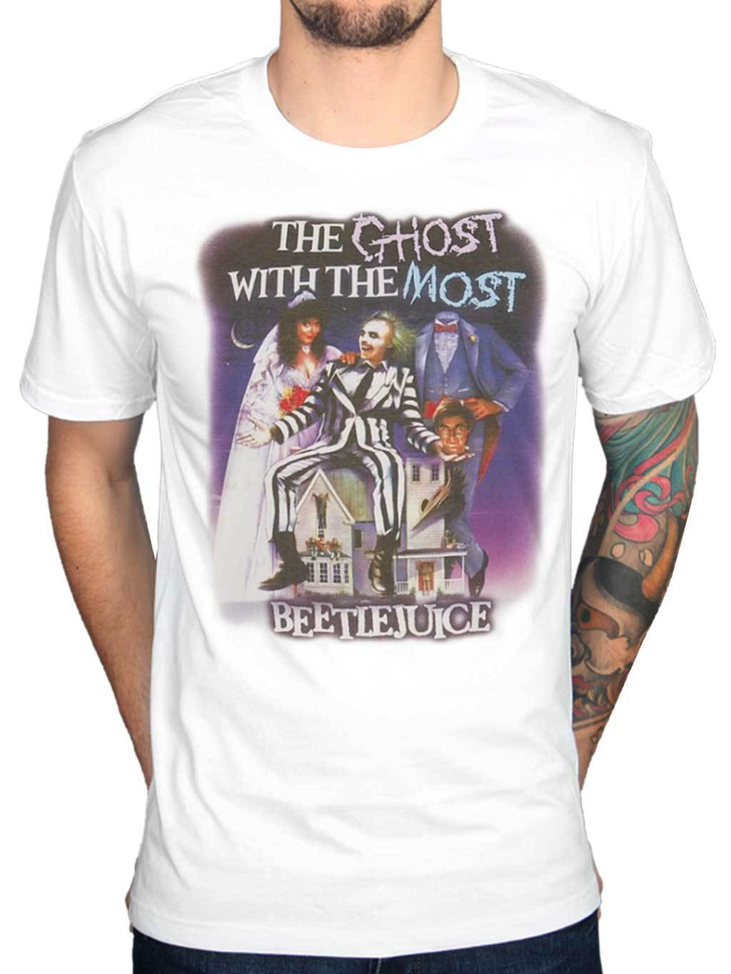 Beetlejuice The Ghost With Most T-Shirt Cult Movie Merchandise 100% Cotton