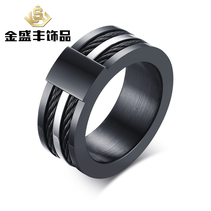 fashion man rings black rings for men Black power pure 316 stainless steel high polished creativity jewerly