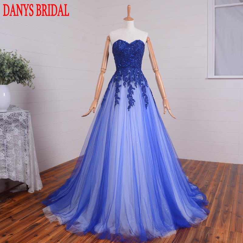 Sexy Long Lace Evening Dresses Party Beaded A Line Sweetheart Women Formal Evening Gowns Dresses Wear robe de soiree longue