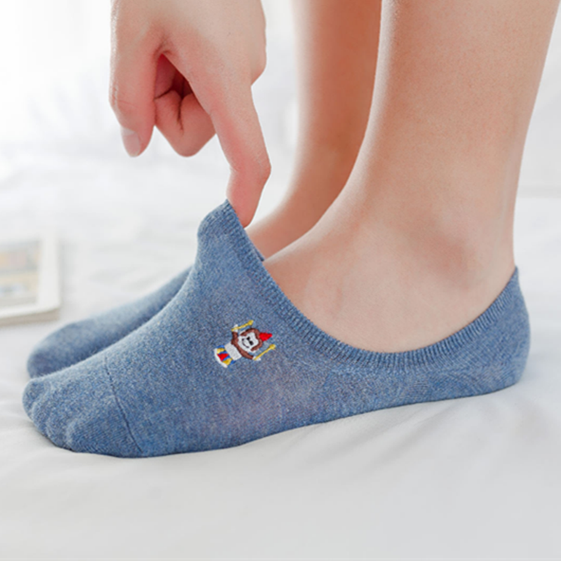 2019 Hot Fashion Color Animal Cotton Socks Female Summer Short Socks Slippers Women Casual Soft Socks