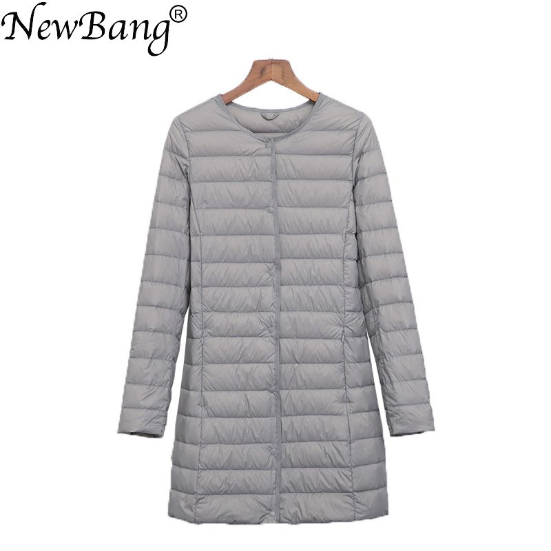 NewBang Matt Fabric Ultra Light   Down   jacket Women Long Duck   Down   Jacket Female Lightweight Warm Slim Portable ladies   Coats