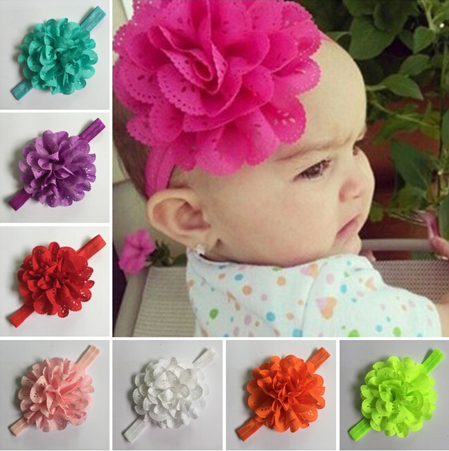 TWDVS Newborn Flower Hair Accessories Kids Girls Flower Elastic hair band ring Headband flower hair band W064 hot sale hair accessories headband styling tools acessorios hair band hair ring wholesale hair rope