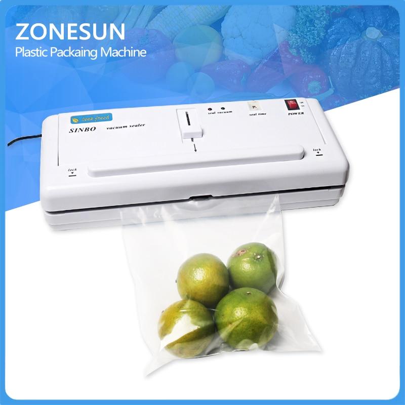 ФОТО ZONESUN  Household Vacuum food packaging machine+plastic film sealer+plastic packing machine household vacuum sealer