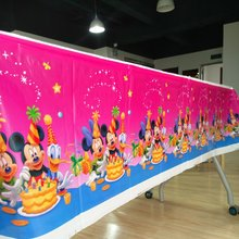 108cm*180cm Birthday Mickey Mouse Party Supplies Tablecloth Favor Kids Boy Tablecloths Festival Decoration 1