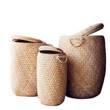 2017 корзина для белья труба двойной слой ручной Вьетнам декоративно-прикладного искусства восстанавливает древних способов
