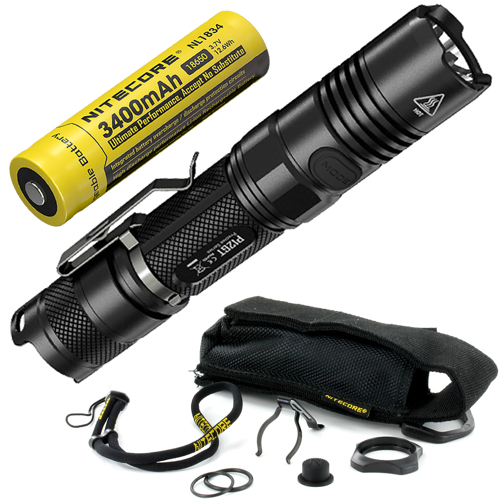 Wholesale NITECORE P12GT With Rechargeable 18650 Battery 1000 Lms CREE XP-L HI V3 LED Tactical Flashlight Torches Free Shipping