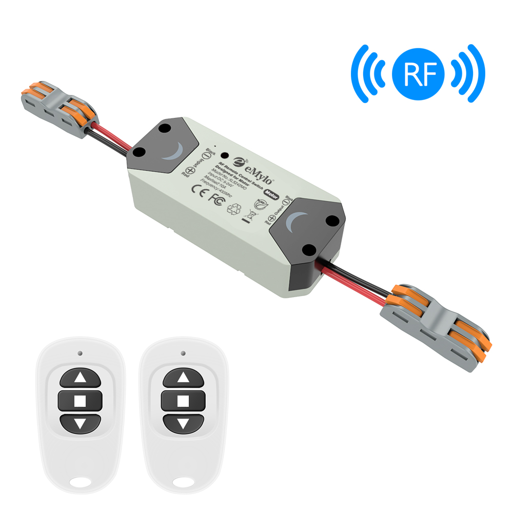 Emylo Rf Switch Motor Controller Dc 12v 433mhz 200w Wireless Remote Control Switch Relay Module For Rolling Door/Water Pump 1pc