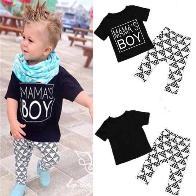6687061b8 2pcs Newborn Toddler Infant Baby Boy Girl Clothes T shirt Tops+ ...