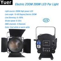 12Pcs/Lot DMX512 stage lights led electric zoom spotlight LED par light High Power cool white warm white wash spot light for dj