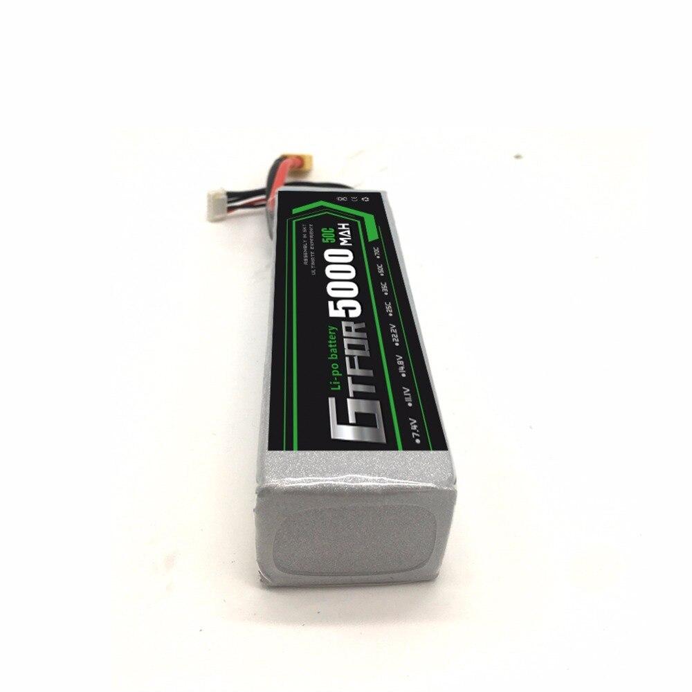 Купить с кэшбэком GTFDR 14.8V 4S 5000mAh 50C 100C RC LiPo Battery Batteries for Helicopter Quadcopter Boat Car Slash 4X4 Ultimate