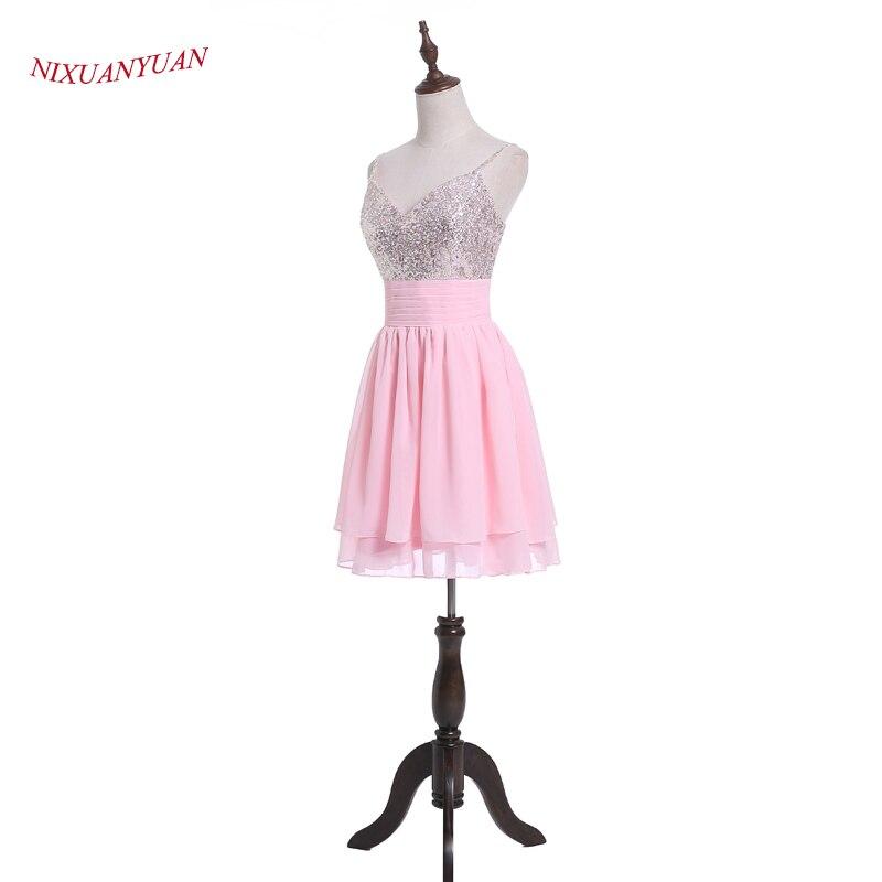 Comprar ahora Nixuanyuan real fotos Rosa gasa partido vestido de ...